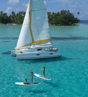 Catamaran et paddle